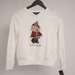 NWT Polo Bear Polo Ralph Lauren Kids Sweatshirt XL